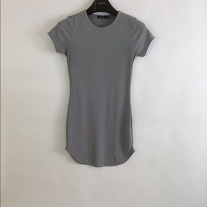 BOOHOO Grey Teeshirt Dress